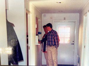 1985 Irene och Anders i nytt kontor